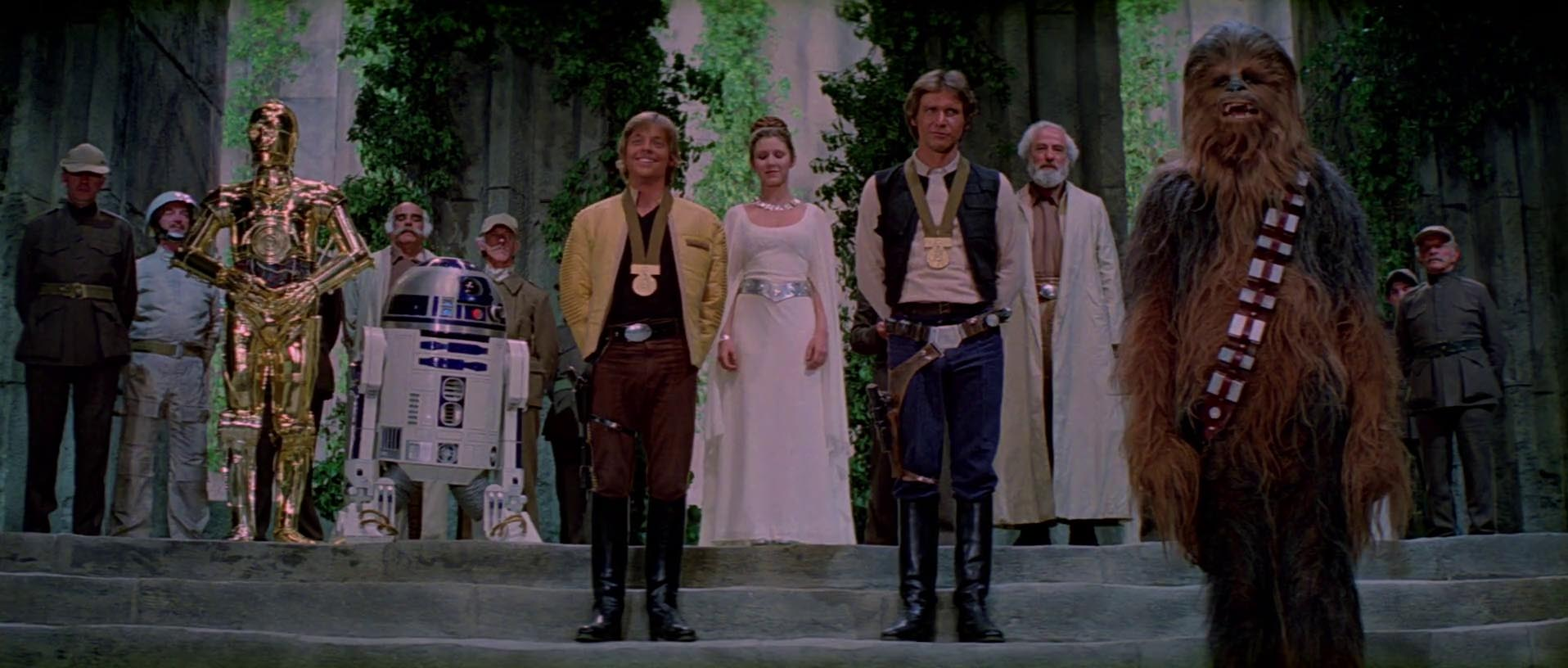 Can you give me a research question that would talk about the symbolism in star wars?